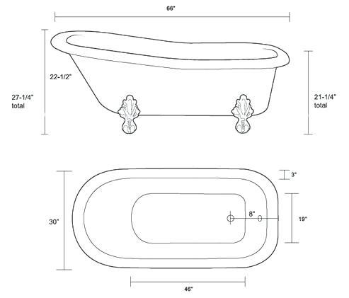 clawfoot tub dimensions imperial dimensions clawfoot tub rough in dimensions
