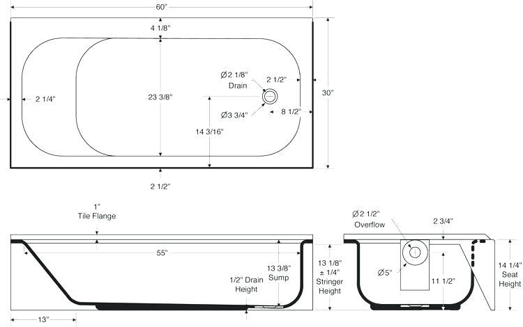 Clawfoot Tub Dimensions Tub Dimensions Fancy Design Bathtub ...