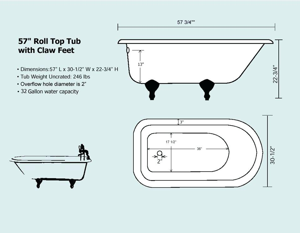 clawfoot tub dimensions view a schematic here clawfoot tub shower curtain length