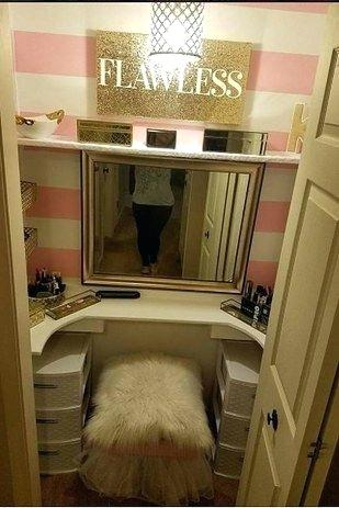 closet vanity table people are swooning over this husbands gift to his makeup loving wife interior decoration courses in kolkata