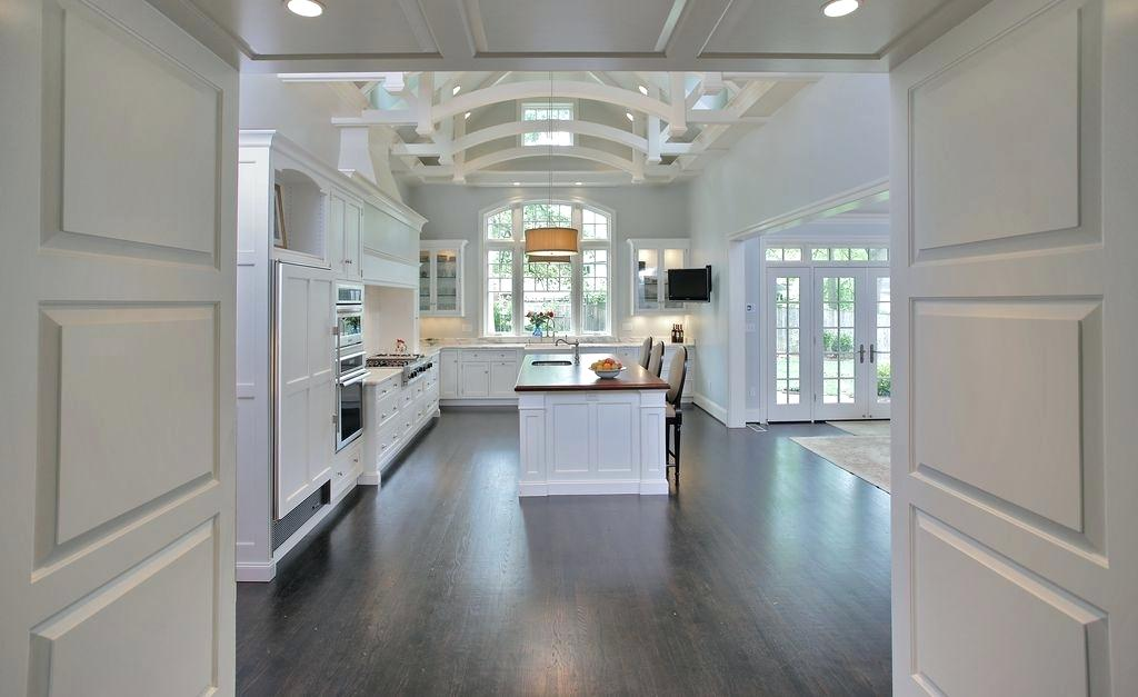 exposed beams in kitchen traditional kitchen with pendant light sink shaker recessed panel cabinets wood counters exposed beams in kitchen pictures