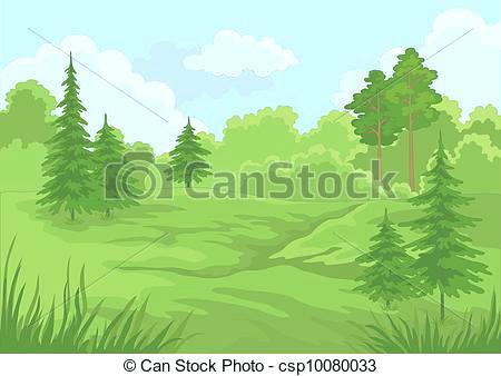 forest landscape vector landscape summer forest forest landscape 27 vector