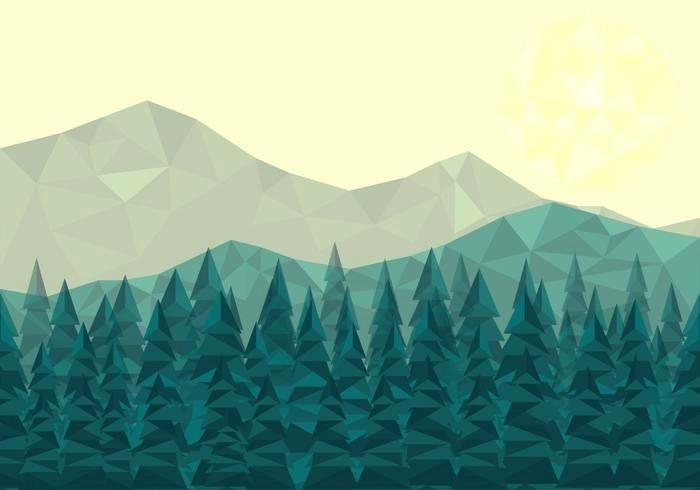 forest landscape vector low poly forest landscape vector forest landscape 27 vector