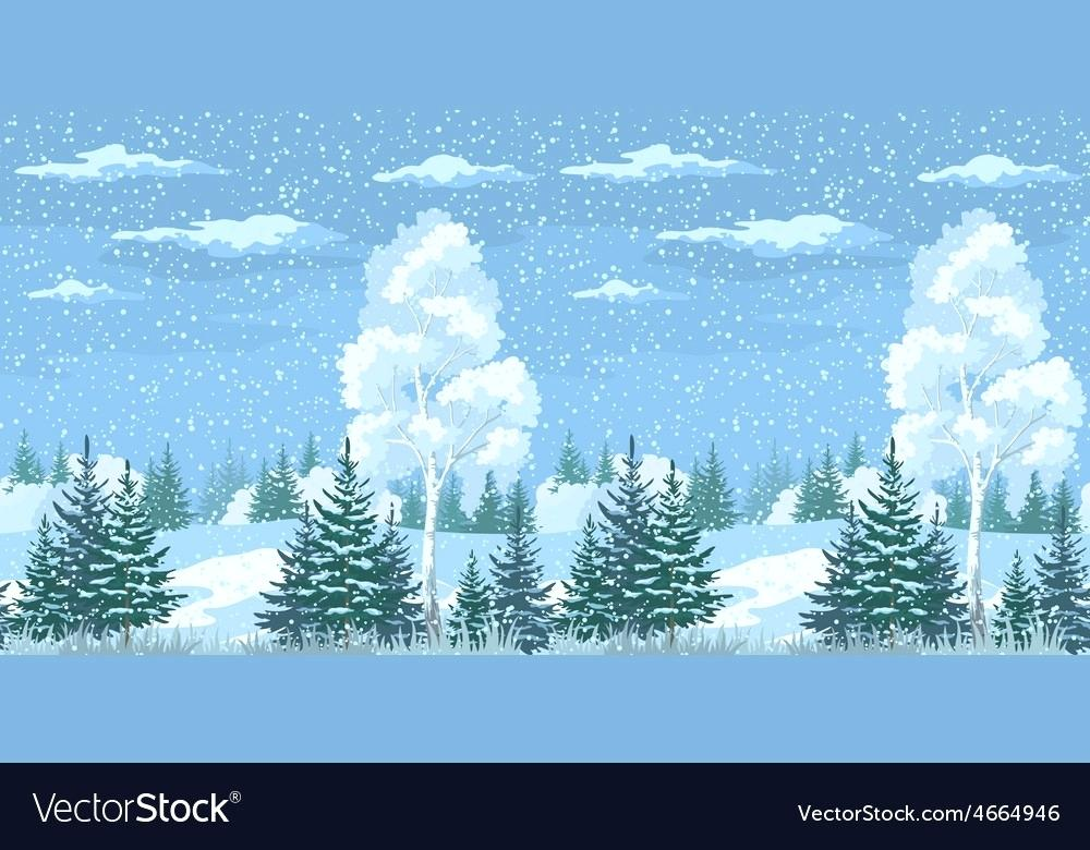 forest landscape vector seamless winter forest landscape vector image forest landscape 27 vector