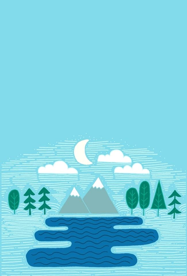 forest landscape vector vector minimalist flat blue forest landscape vector simple flat background image forest landscape 27 vector
