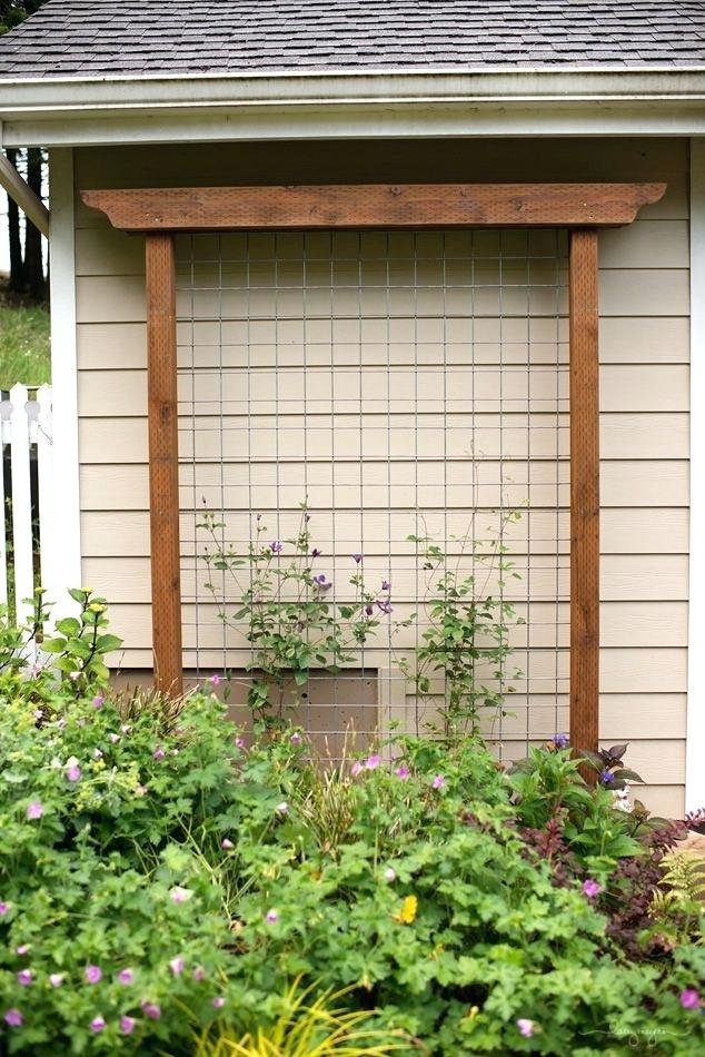house trellis designs garden trellis out of pressure treated wood and cattle fencing house trellis ideas