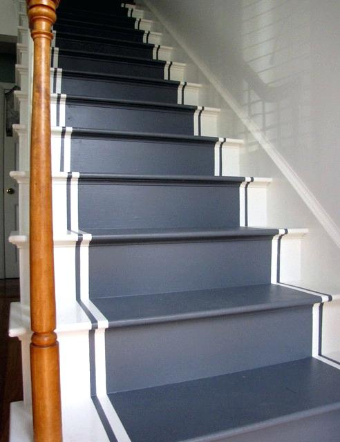 pics of stairs with runners painted stair runners eclectic