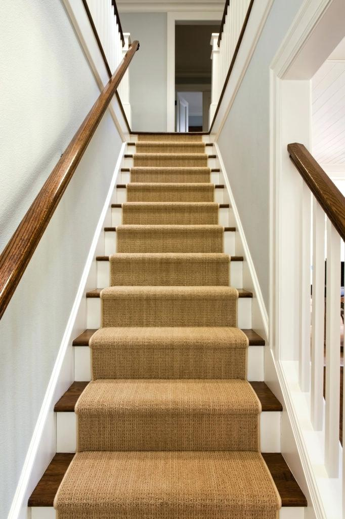 pics of stairs with runners stair carpeting in stone oak