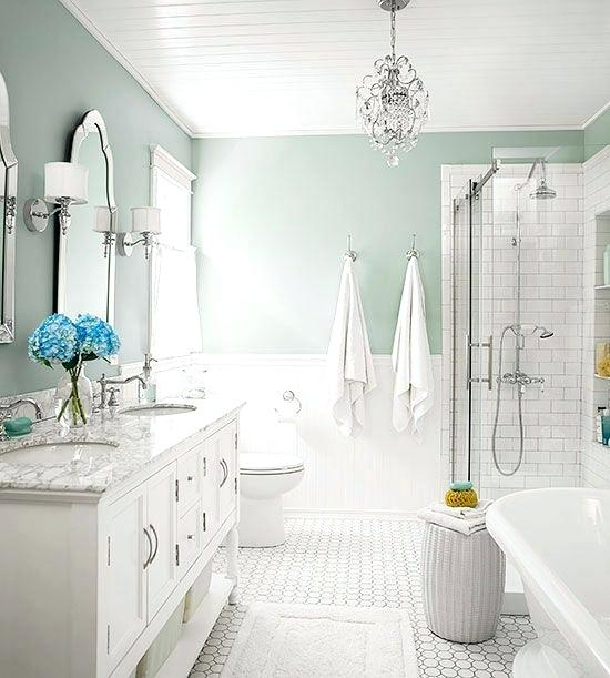 seafoam green bathroom paint cottage white silver i love this wall color interior decorating styles pdf