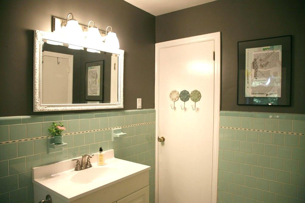 seafoam green bathroom paint great idea a little gray paint and suddenly the green bathroom interior decoration tips pdf