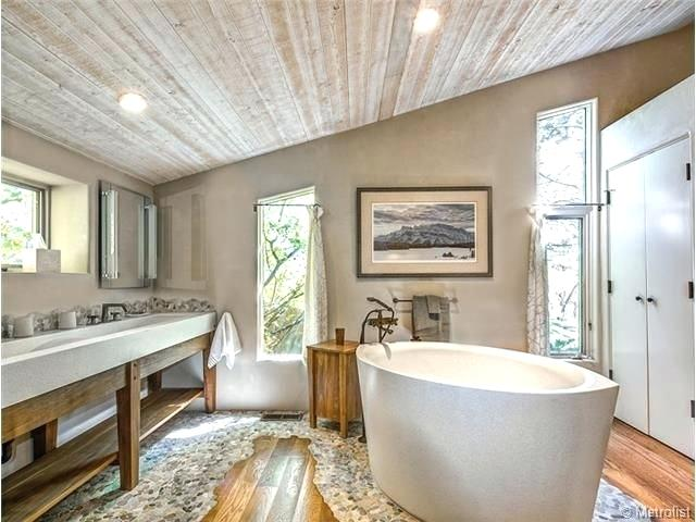 exposed beams in bathroom 4 tags eclectic master bathroom with high ceiling console sink fire clay exposed beams bathroom