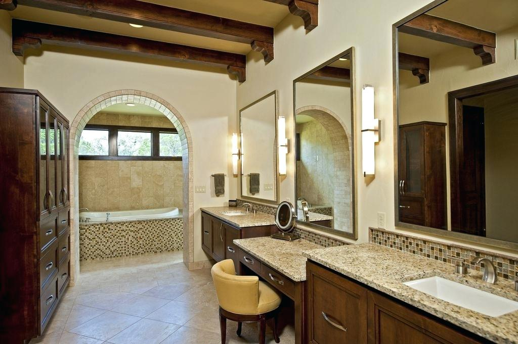exposed beams in bathroom modern master bathroom with flat panel cabinets marvel mosaic exposed beam specialty door exposed beams bathroom