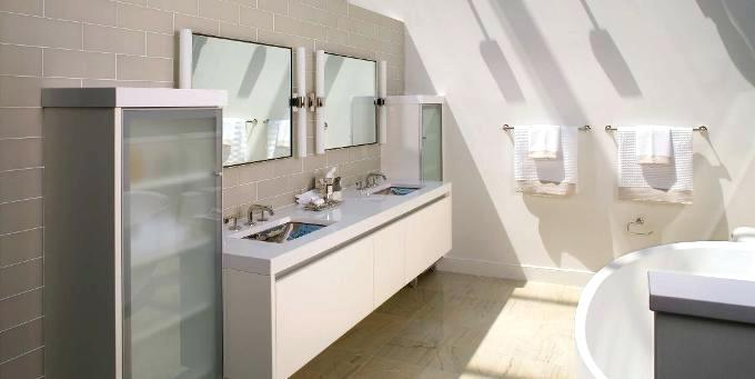exposed beams in bathroom textural elements at play subway tiled walls honeycomb mosaic on the floor a double ended roll top tub and ceiling and exposed beams exposed beams bathroom