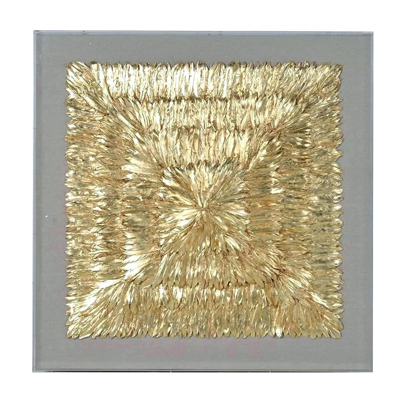 Feather Wall Art Metal Feather Wall Art Huge Framed Gold Feather ...