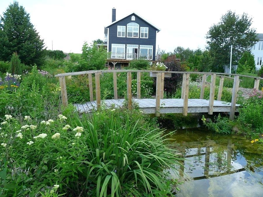 rustic landscaping ideas rustic landscape around cottage with a cool garden bridge design gardening
