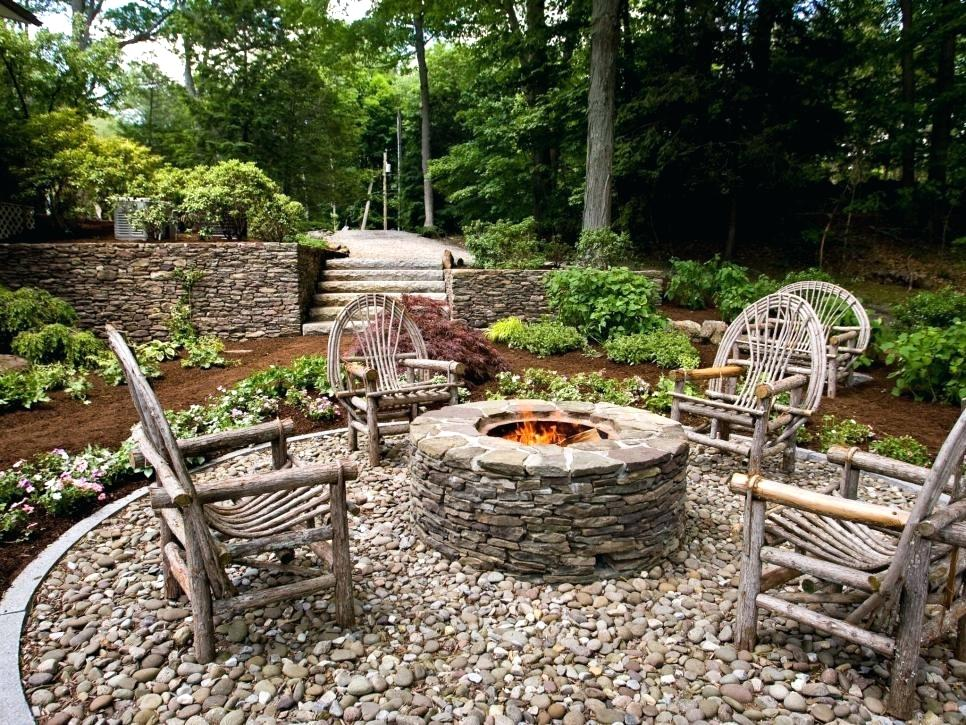 rustic landscaping ideas rustic style fire pits landscaping ideas design