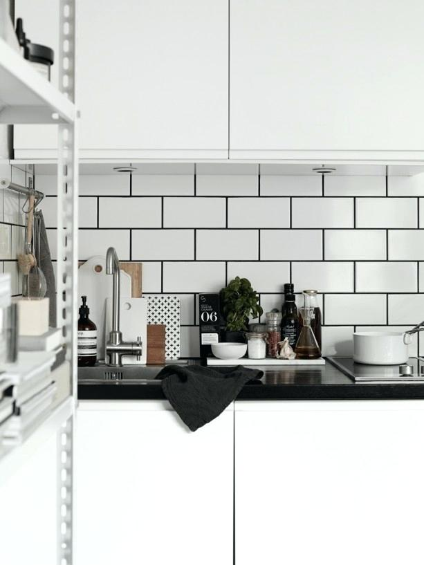 white tiles grey grout kitchen white subway tile dark grout kitchen