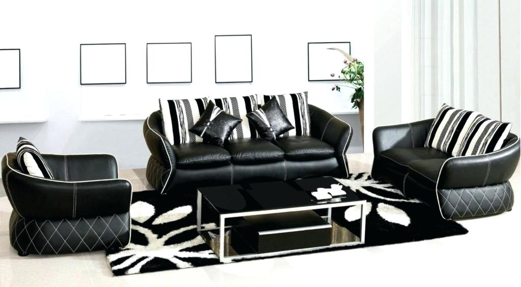 black and white sofa stylish black and white leather sofa for living room