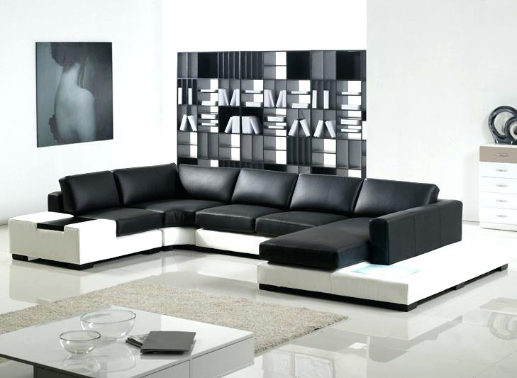 black and white sofa u shaped sofa with bookcase in room black and white sofas style and modern furniture