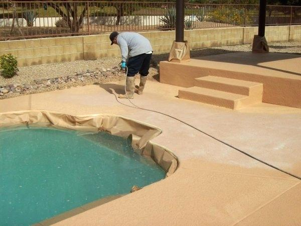 concrete pool deck resurface image of magnetic concrete pool deck repair with resurfacing pool decks for small backyard pool designs