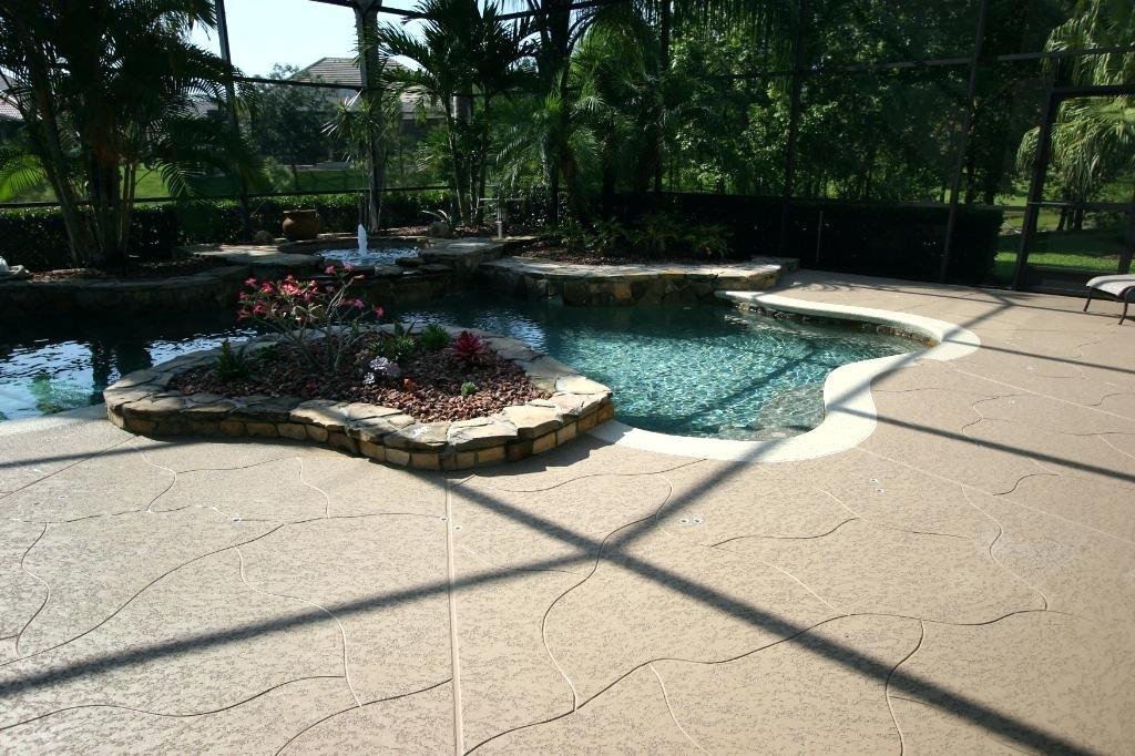 concrete pool deck resurface slip resistant classic texture