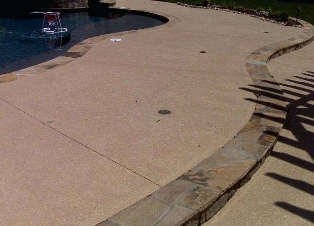 concrete pool deck resurface standard knockdown on a pool deck in