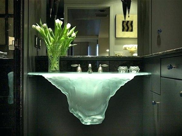 futuristic bathroom design modern house unusual glass basin at bathroom interiors equipped vase cabinets also mirror the extraordinary sinks that you will not find in an average futuristic bathroom in