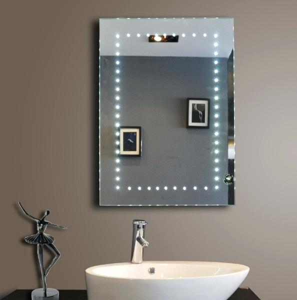 Bathroom mirrors with shaver socket