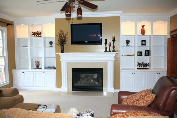 media wall unit with fireplace