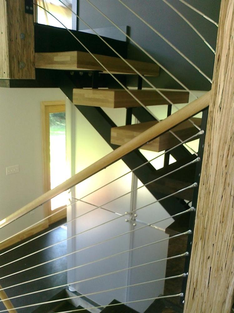plexiglass stair railing cable railings