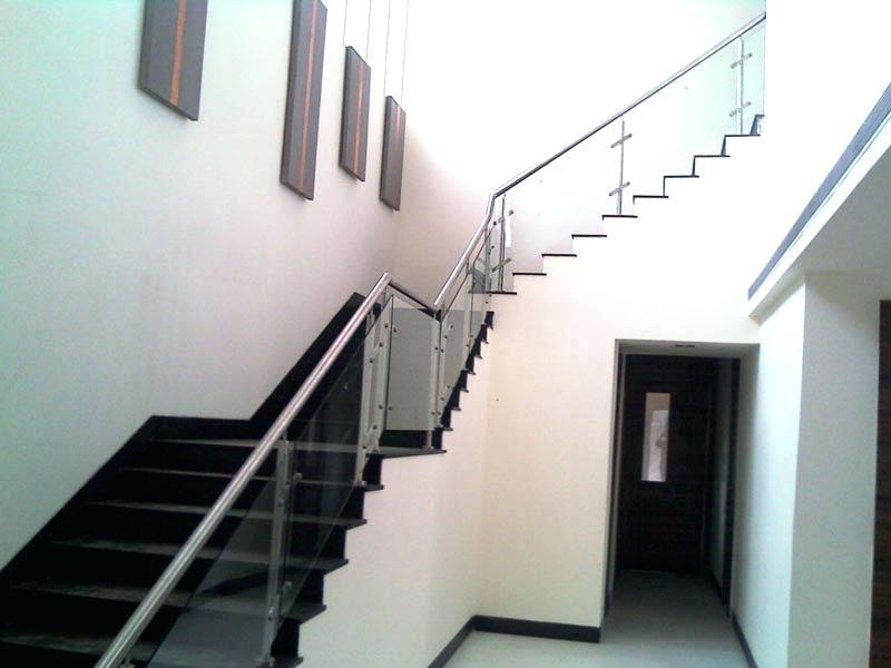 plexiglass stair railing glass stair railings modern