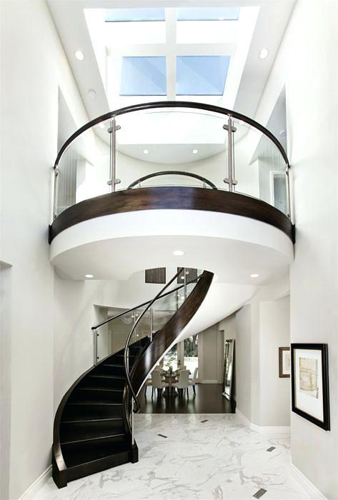 plexiglass stair railing