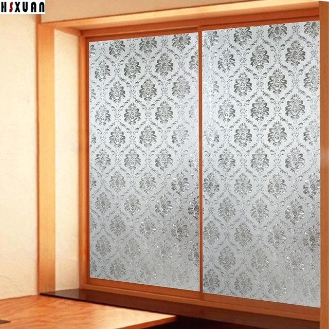 sliding glass door privacy film decorative window privacy film frosted flower sliding glass door static opaque window stickers
