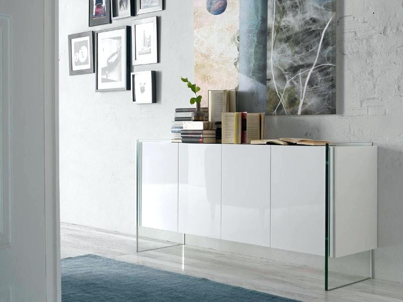 white sideboard modern modern 4 door sideboard in white with tempered glass sides white modern sideboard ebay