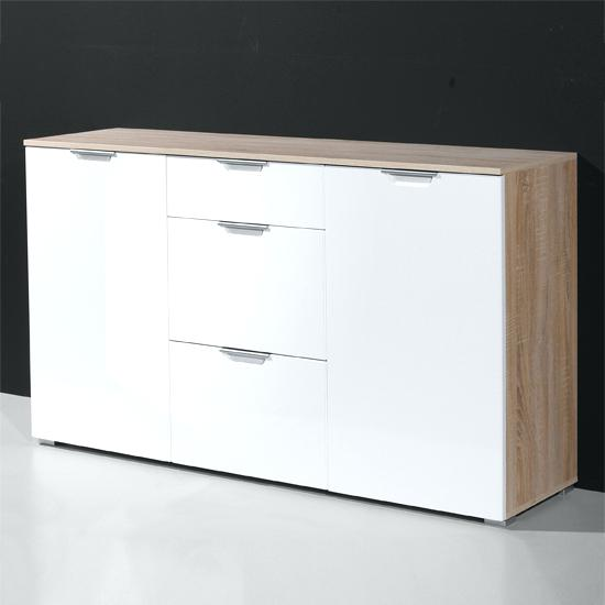 white sideboard modern modern sideboard in gloss white and oak with 2 door mono white sideboard modern