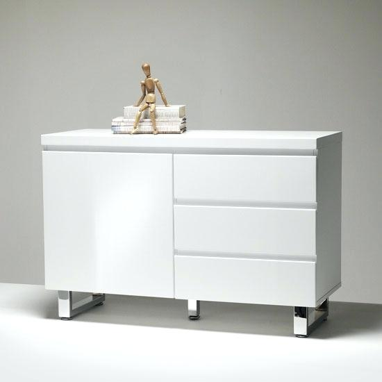 white sideboard modern small sideboard in high gloss white 3 drawer 1 door modern white sideboard uk