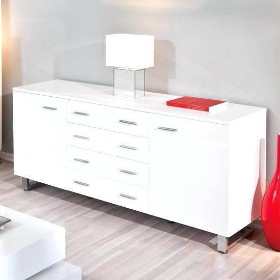 white sideboard modern white modern sideboard sideboard in high gloss white with chrome legs white modern sideboard ebay