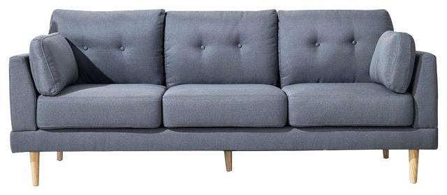 mid century sofa wood frame inspiring mid century modern ultra plush linen fabric sofa on sofas