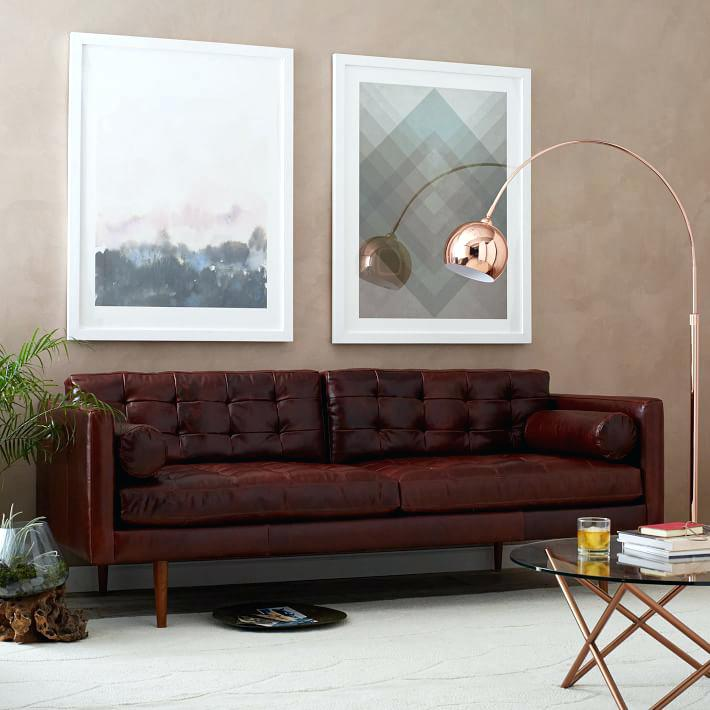 mid century sofa wood frame latest leather mid century modern sofa mid century leather sofa west elm
