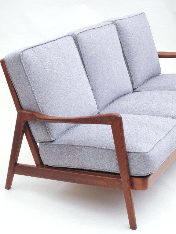 mid century sofa wood frame mid century wood frame sofa