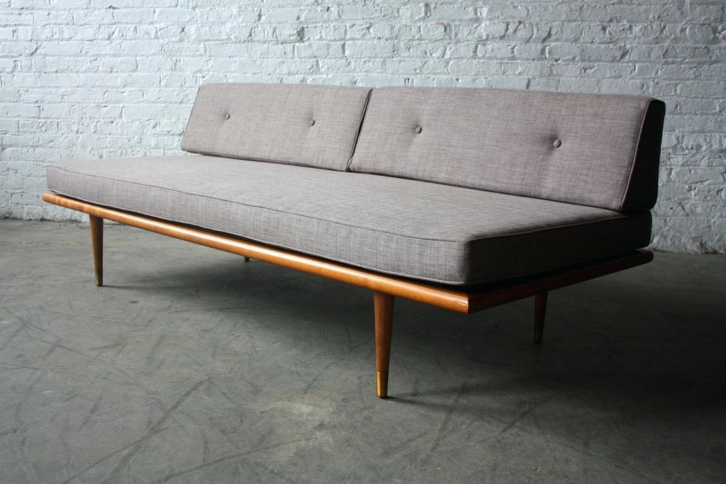 mid century sofa wood frame retro danish modern daybed sofa make a mid century all home designs 2