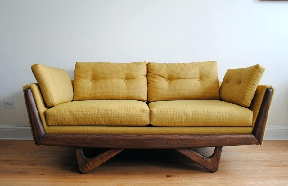 mid century sofa wood frame vintage mid century modern couch