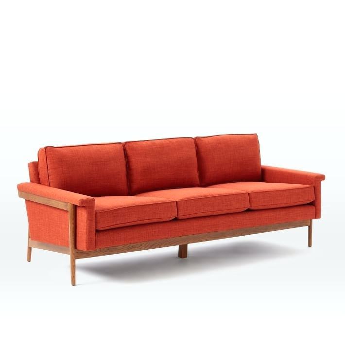mid century sofa wood frame