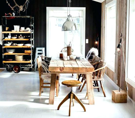 rustic industrial kitchen table cool industrial kitchen designs that inspire rustic industrial kitchen natural rustic wood vintage shelving and black interior decoration courses in india