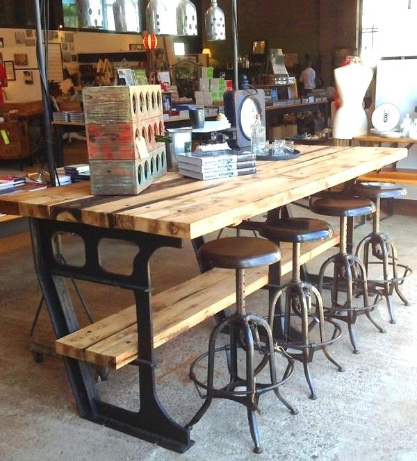 rustic industrial kitchen table stupendous industrial kitchen island table with rustic wooden wine rack and rustic adjustable bar stools also rustic tabletop clocks from kitchen island interior decora