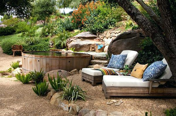 rustic landscaping ideas for a backyard fine backyard landscaping ideas hot tub at inspiration article