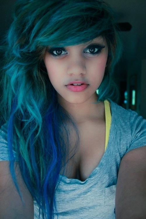 shades of teal hair i want blue coloured hair not to light not to dark teal blue hair color