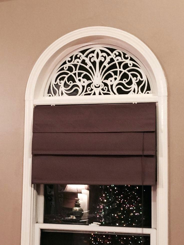 circular window blinds faux wrought iron arch for windows using rubber door mats and spray paint easy