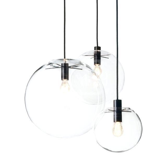 clear glass globe pendant light modern lustre globe pendant lights fixture home glass ball pendant lamp suspension