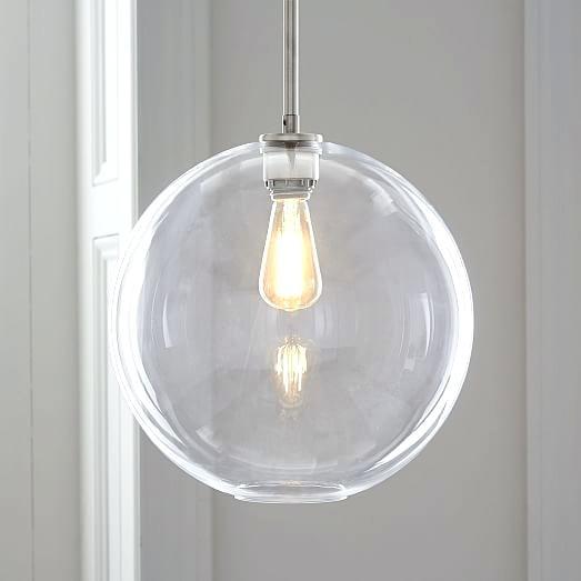 clear glass globe pendant light sculptural glass globe pendant small globe clear shade brass canopy scroll to next item